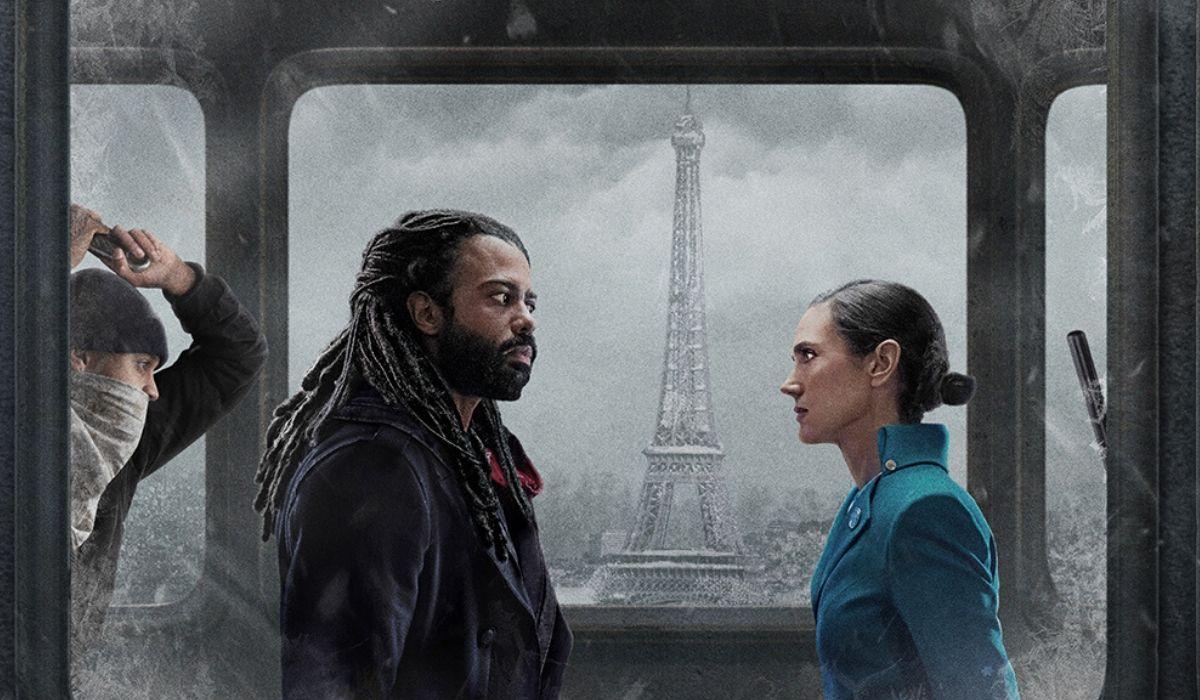 Daveed Diggs e Jennifer Connelly nel poster di Snowpiercer Credits Netflix e TNT