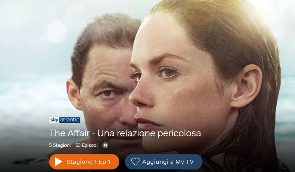 The Affair è in streaming su NOW TV, Credits Sky