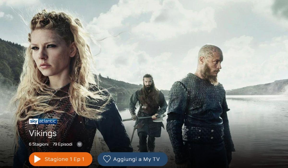 Vikings è in streaming su NOW TV Credits Sky