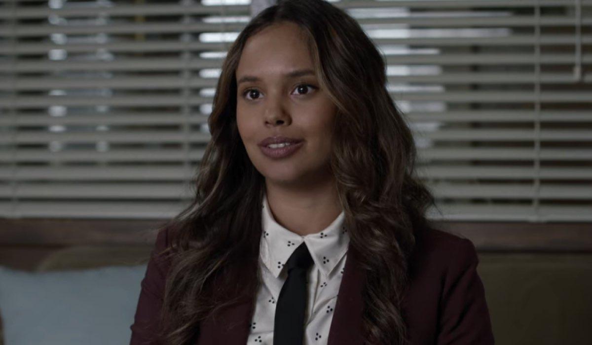 Alisha Boe nei panni di Jessica Davis in Tredici 4x07 credits David Moir e Netflix © 2020