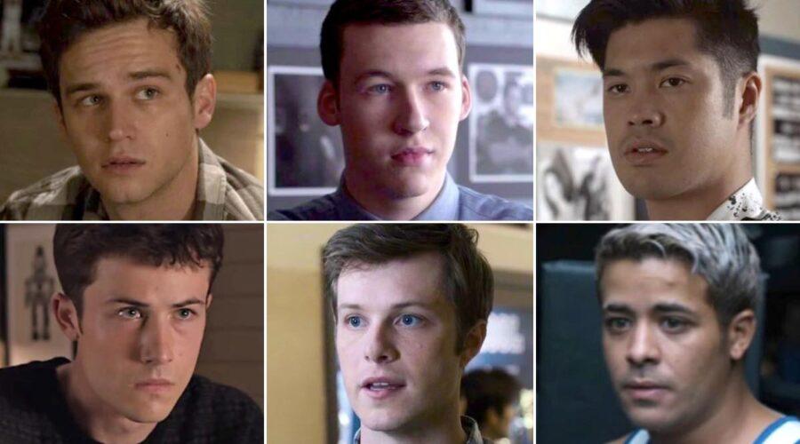 Justin, Clay, Tyler, Charlie, Zach e Tony in Tredici Credits Netflix