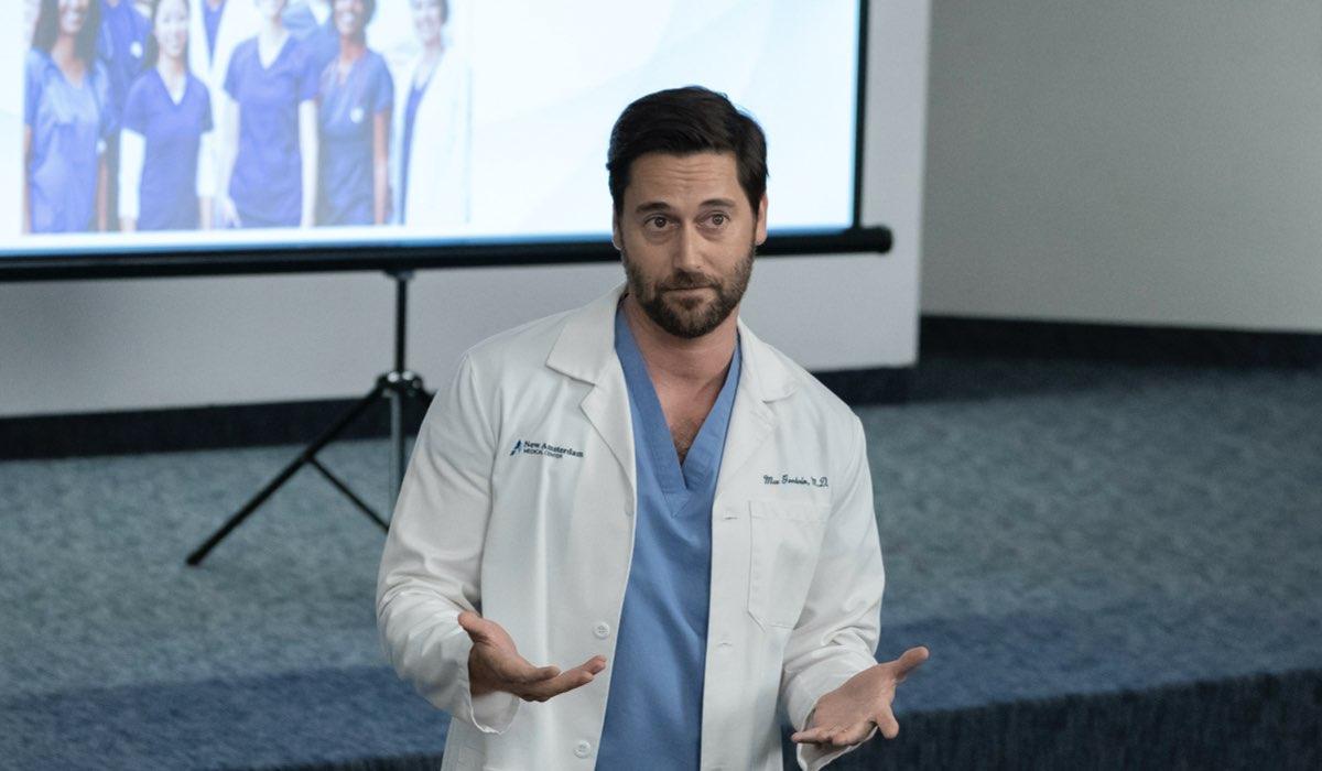 Max Goodwin interpretato da Ryan Eggold del dottor in New Amsterdam Credits Mediaset Universal Television e NBC