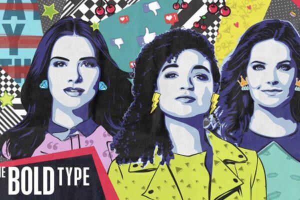 Da sinistra: Katie Stevens, Aisha Dee e Meghann Fahy nei panni di Jane, Kat e Sutton in The Bold Type. Credits: Freeform via Mediaset.