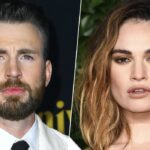 Chris Evans alla premiere di Knives Out foto di Jon Kopaloff e Lily James al The Fashion Awards 2019 foto di Jeff Spicer Credits BFC e Getty Images