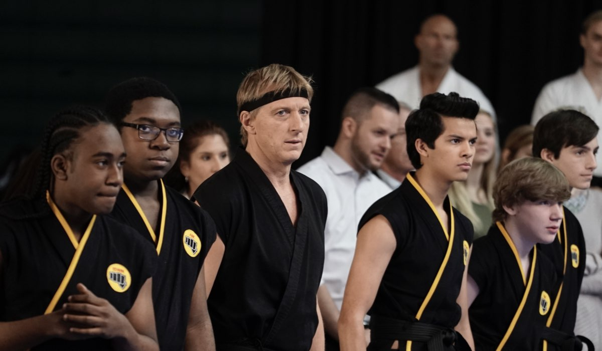 Cobra Kai William Zabka e Xolo Mariduena in una scena della prima stagione Credits Jace Downs e Netflix