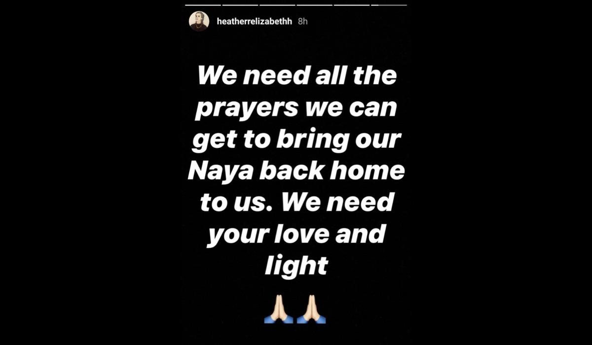 Heather Morris Instagram Story su Naya Rivera Credits @heatherrelizabethh