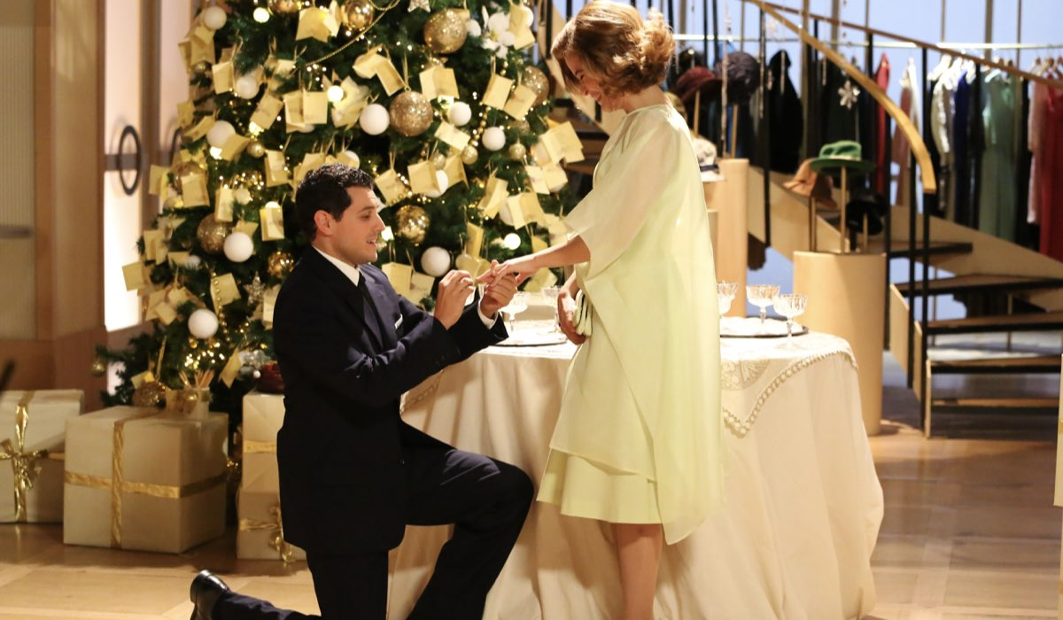 Il Paradiso delle Signore 4 Salvatore e Gabriella interpretati da Emanuel Caserio e Ilaria Rossi Credits P. Bruni e RAI