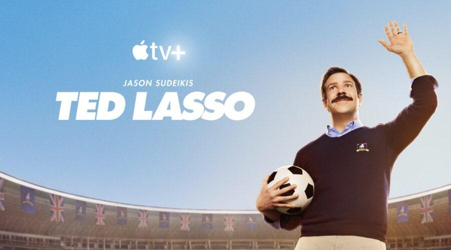 Jason Sudeikis nella key art di Ted Lasso Credits Apple TV+