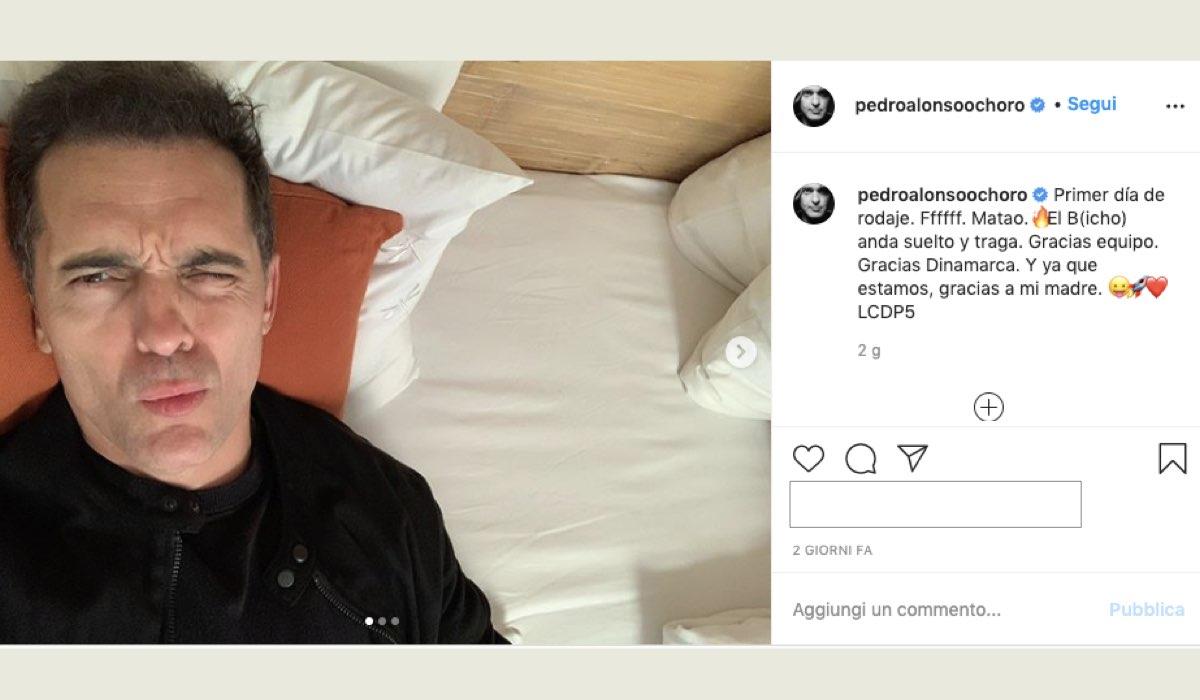 La casa di carta 5 primo giorno di riprese in Danimarca foto pubblicata da Pedro Alonso sul suo profilo Instagram il 3 agosto 2020