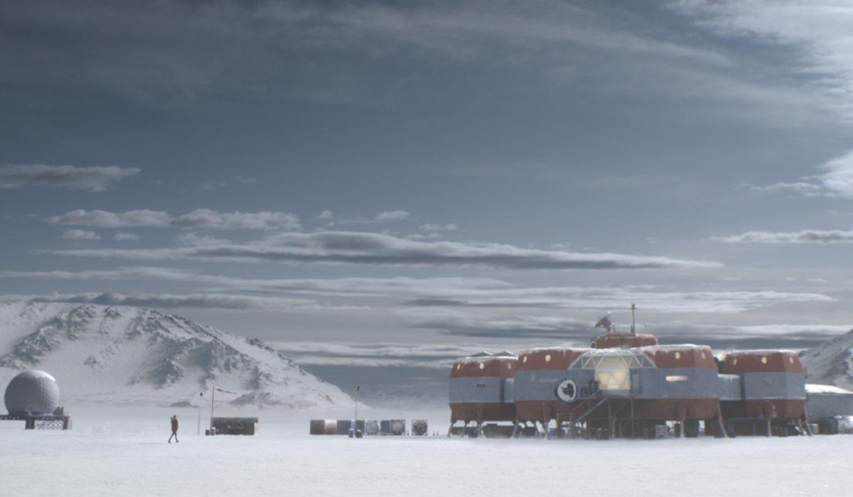 La stazione scientifica Polaris VI in una scena di The Head. Credits Mediapro Studios