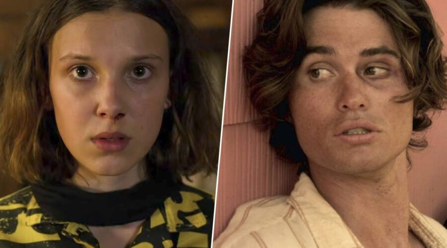 Millie Bobby Brown e Chase Stokes sono Undici e John B in Stranger Things 3x06 e Outer Banks Credits Netflix