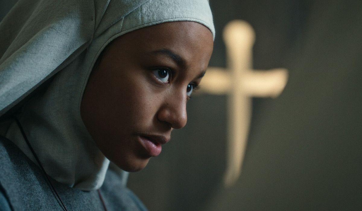 Shalom Brune-Franklin è Sorella Igraine in Cursed episodio 3 Credits Netflix