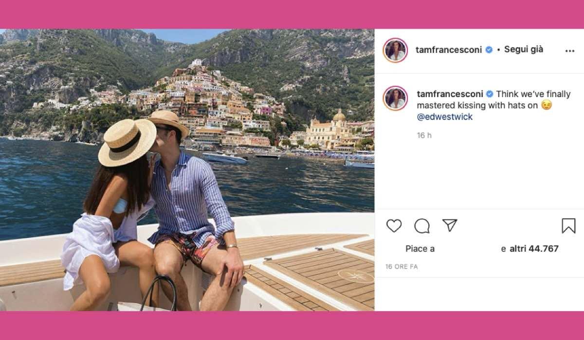 Tamara Francesconi e Ed Westwick in Italia Credits Instagram @tamfrancesconi