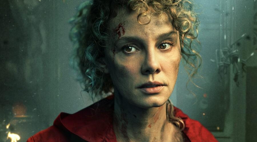 Esther Acebo (Stoccolma) nel poster del personaggio de La casa di carta 5 stagione. Credits: Netflix
