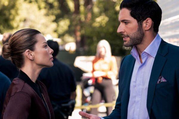 Chloe e Lucifer in Lucifer 5 stagione puntata 3 Credits John P. Fleenor e Netflix