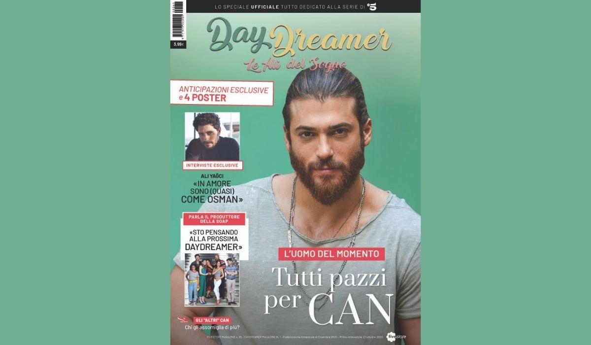 Copertina del nuovo numero di Daydreamer magazine Credits Mediaset
