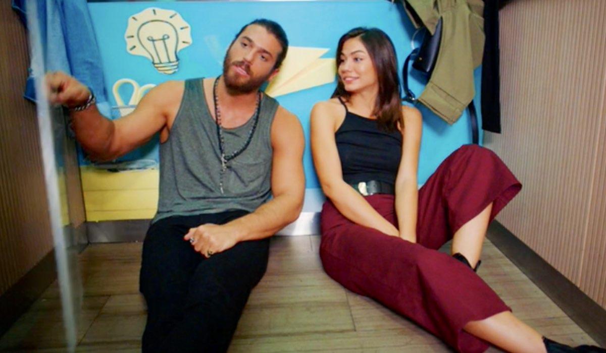 Daydreamer Can e Sanem in ascensore nella puntata 57 Credits Mediaset