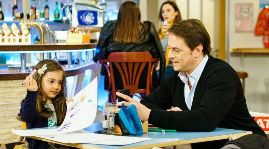 Filippo e la piccola Irene in Un posto al sole Credits RAI
