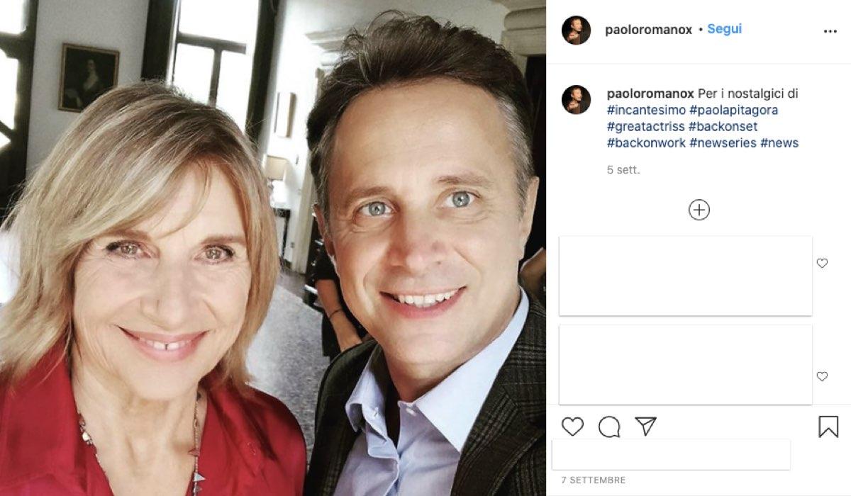 Foto condivisa da Paolo Romano sul suo account Instagram dal set di Luce dei tuoi occhi