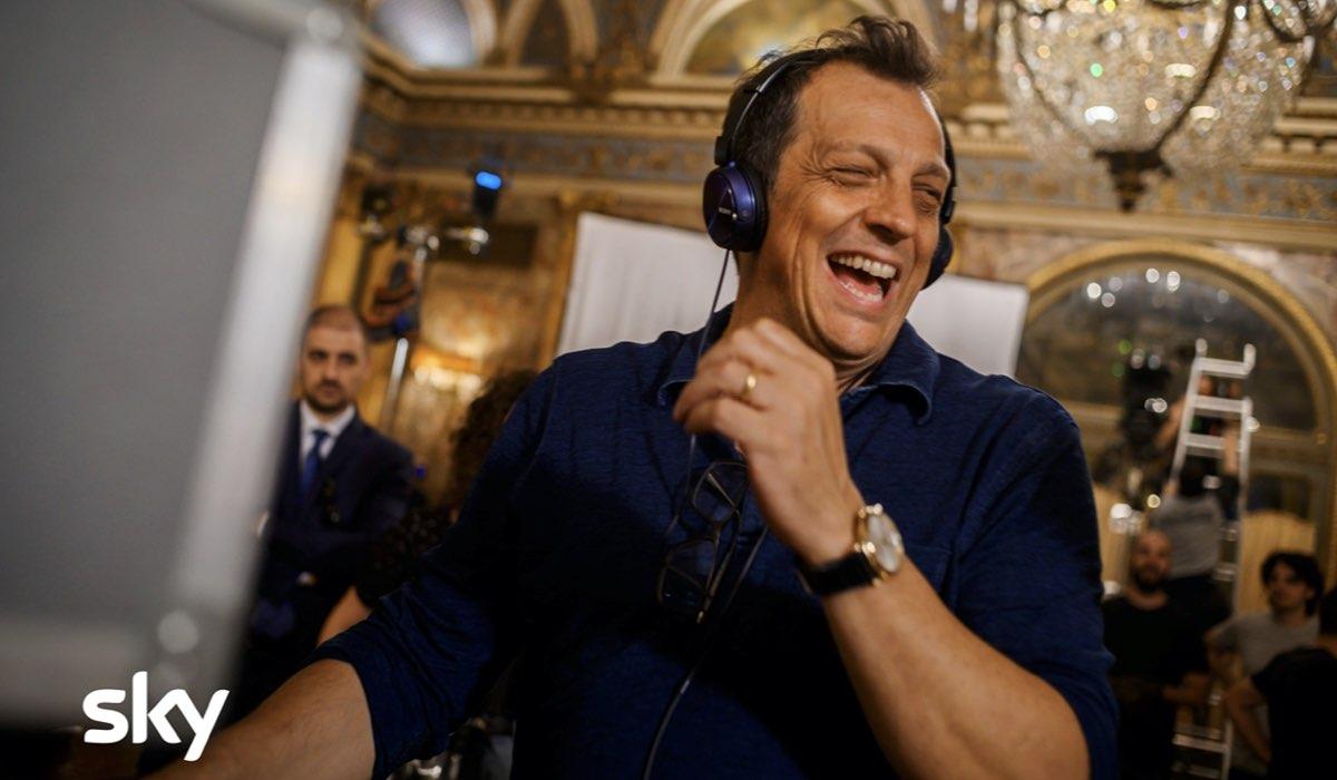 """Gabriele Muccino, regista di """"A casa tutti bene - La serie"""". Credits: Andrea Miconi/Sky."""