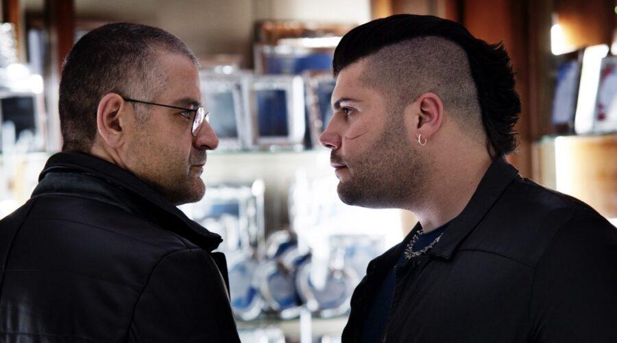 Gomorra 2 stagione con Fortunato Cerlino che interpreta Pietro Savastano e Salvatore Esposito che interpreta Genny Savastano Credits SKY