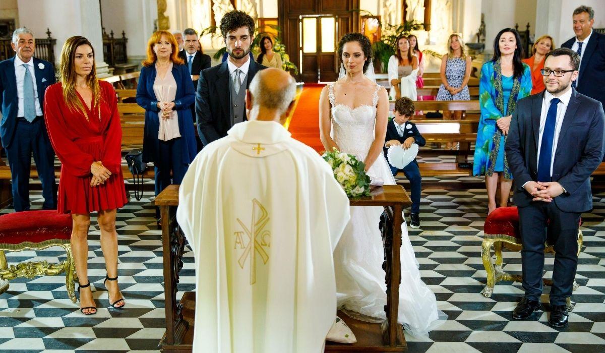 Il matrimonio di Niko e Susanna in Un posto al sole Credits RAI