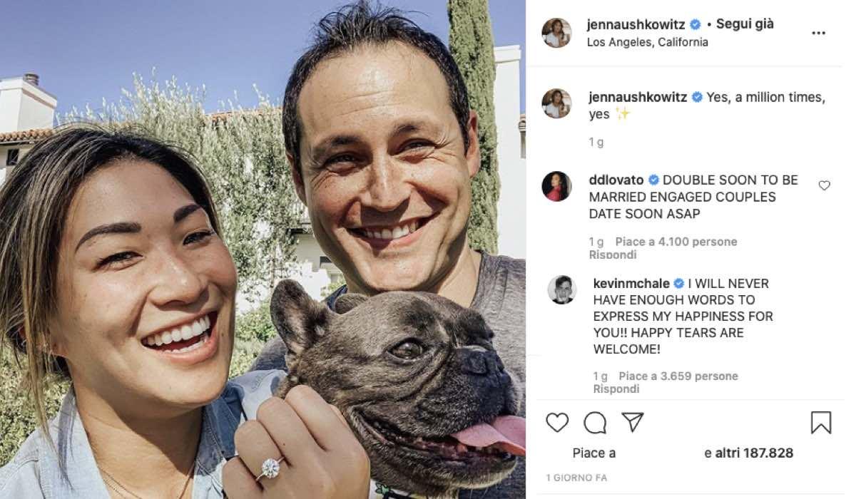 Jenna Ushkowitz e David Stanley via Instagram @jennaushkowitz