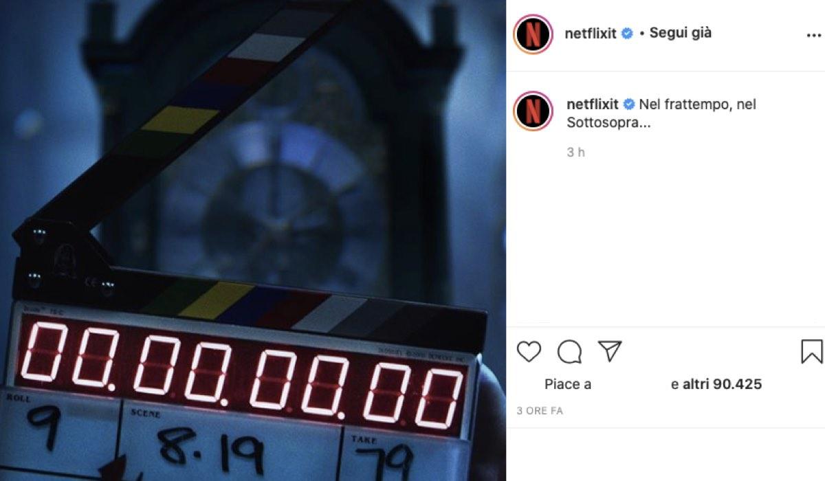Stranger Things 4 riprese credits Instagram via @netflixit