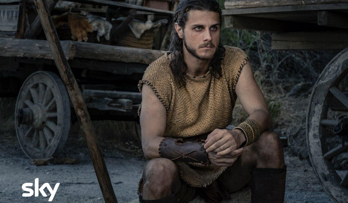 Una scena dell'episodio 4 della serie tv Romulus con Andrea Arcangeli (Iemos). Credits: Francesca Fago/Sky Italia