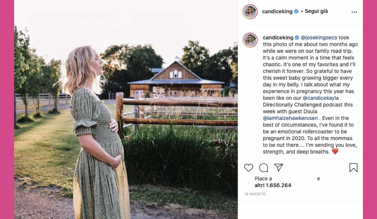 Candice King incinta post Instagram credits @candiceking