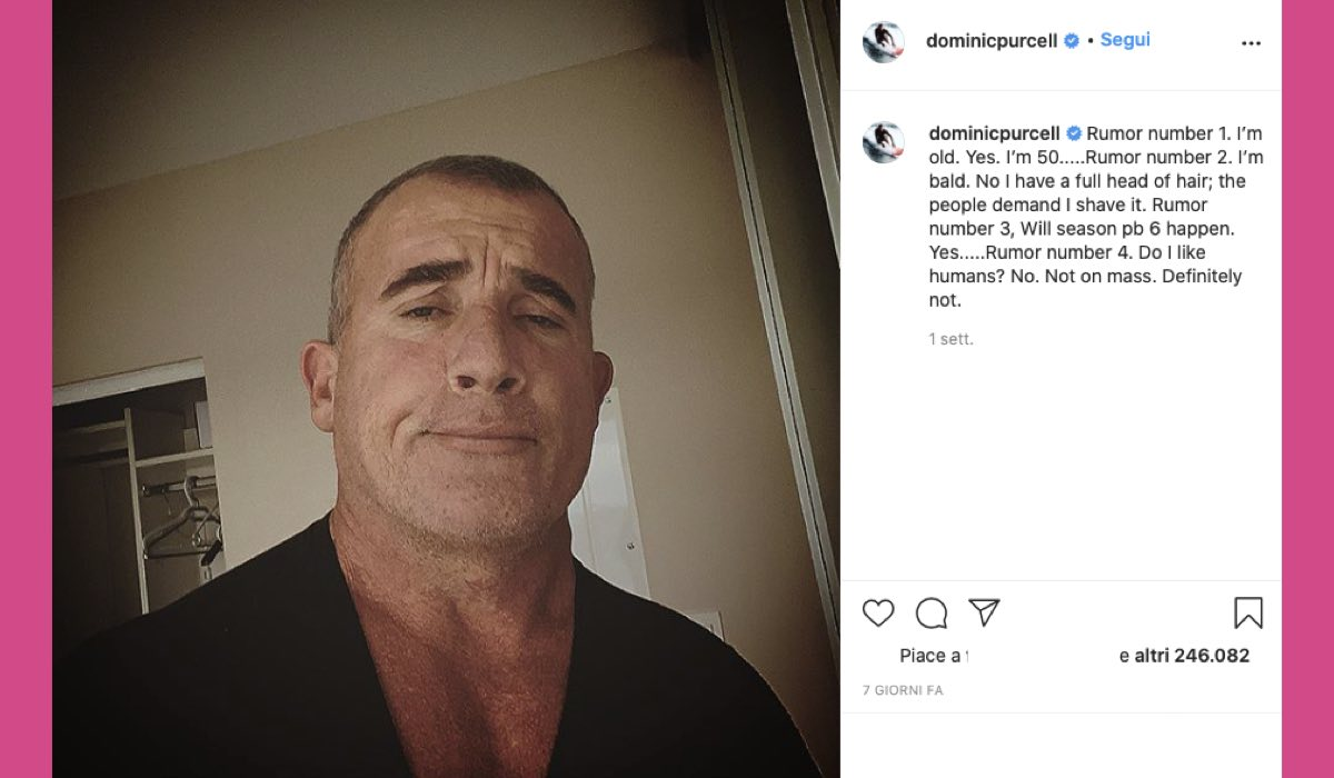 Dominic Purcell Prison Break 6 credits Instagram via @dominicpurcell