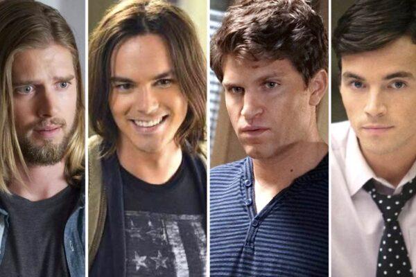 Drew Van Acker, Tyler Blackburn, Keegan Allen e Ian Harding sono Jason, Caleb, Toby ed Ezra in Pretty Little Liars credits Freeform