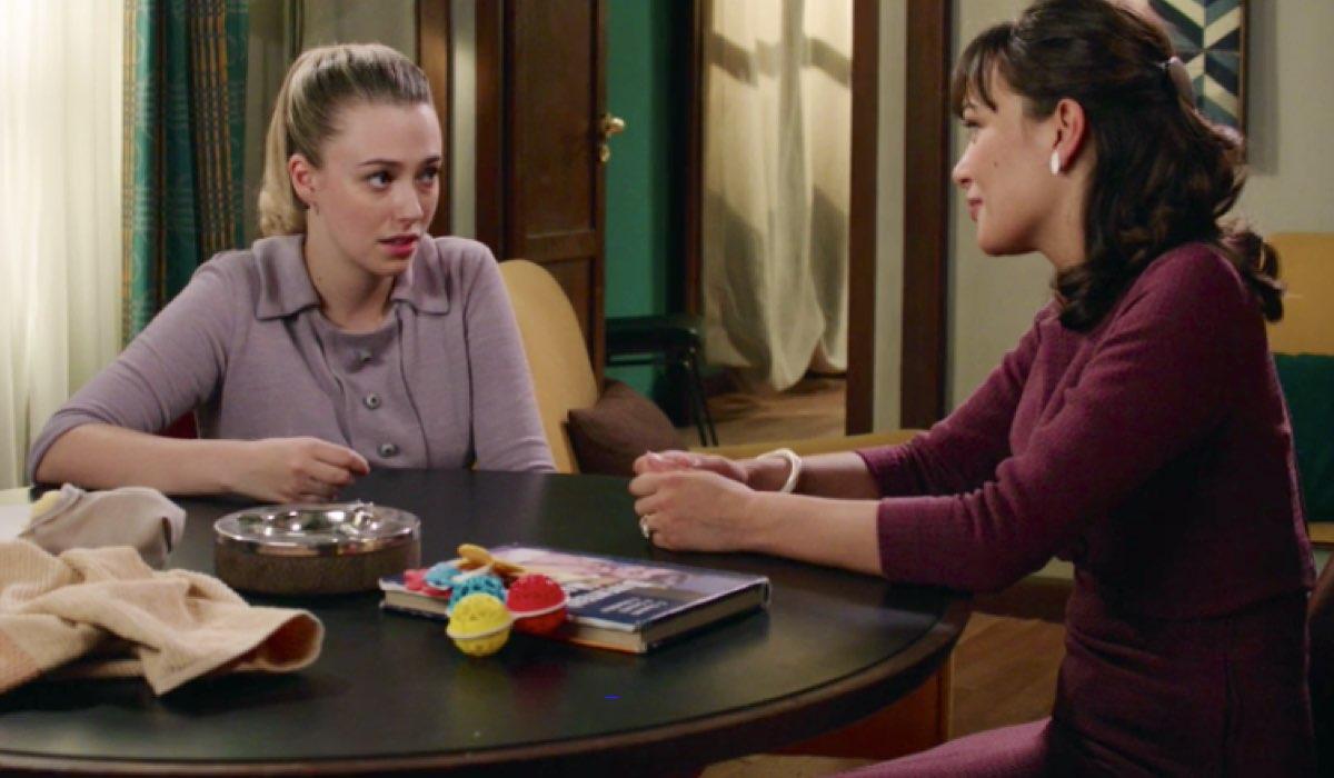 Il Paradiso delle Signore 4 Angela e Marta interpretate da Alessia Debandi e Gloria Radulescu nella puntata 143 Credits RAI