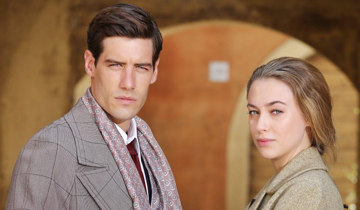 Il Paradiso delle Signore 4 Riccardo e Angela interpretati da Enrico Oetiker e Alessia Debandi, qui in un posato Credits RAI