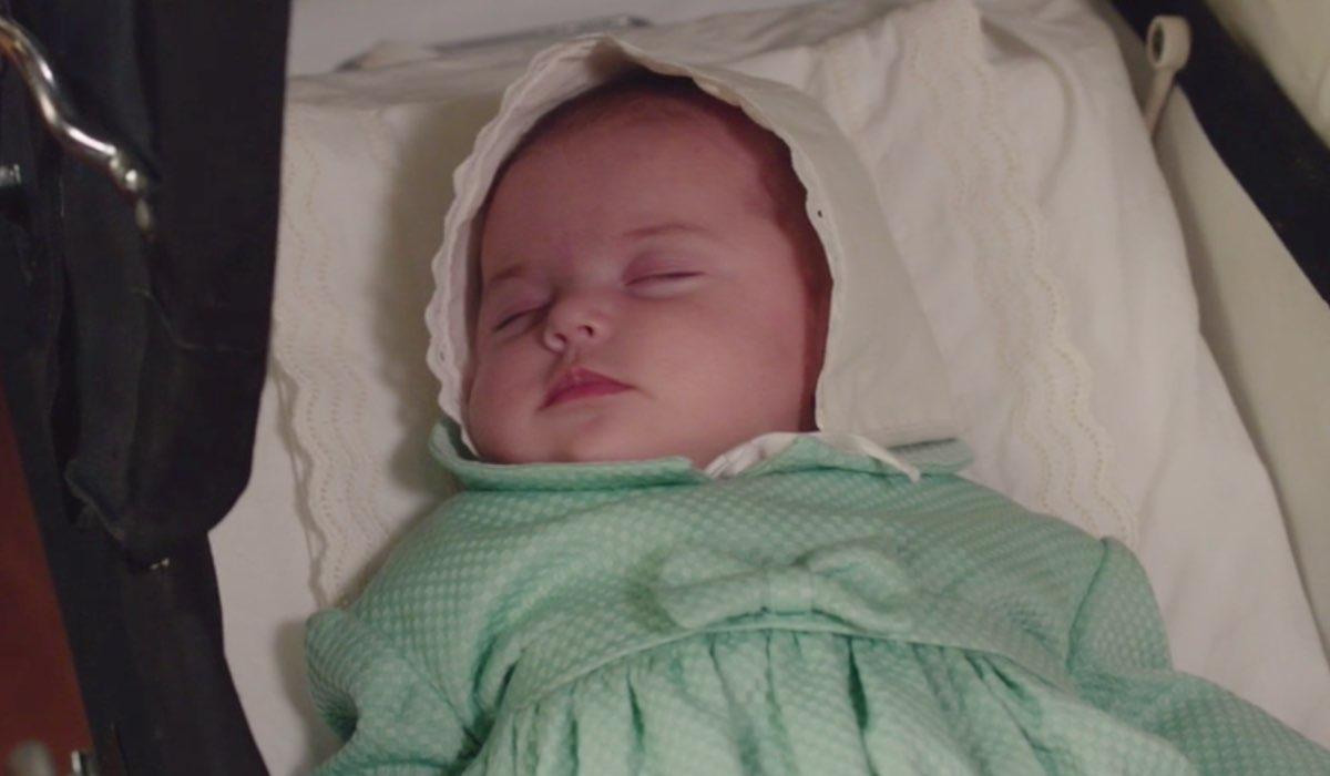 Il Paradiso delle Signore 4 la piccola Anna addormentata, qui nella puntata 144 Credits RAI