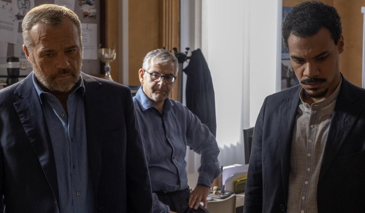 Nero a metà 2 Carlo, Mario e Malik interpretati da Claudio Amendola, Fortunato Cerlino e Miguel Gobbo Diaz Credits Claudio Iannone e RAI