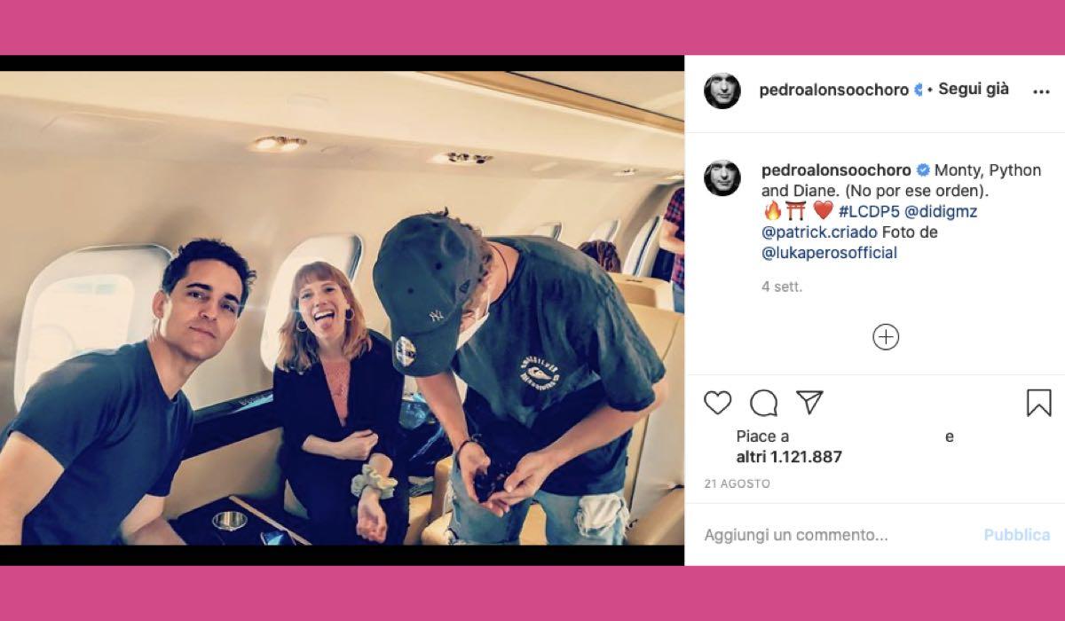 Pedro Alonso, Diana Gómez e Patrick Criado credits Instagram via @pedroalonsoochoro