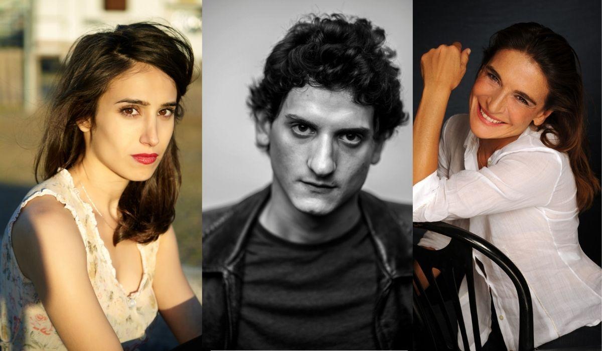 Cast di Christian: da sinistra: Silvia D'Amico, Antonio Bannò e Lina Sastri. Credits: Pierpaolo Redondo, Paolo Palmieri via Sky.
