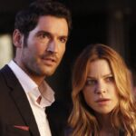 Tom Ellis e Lauren German sono Lucifer e Chloe Decker in Lucifer credits Netflix e Fox