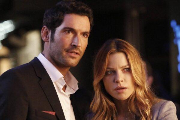 Tom Ellis e Lauren German sono Lucifer e Chloe Decker in Lucifer credits Netflix e Fox