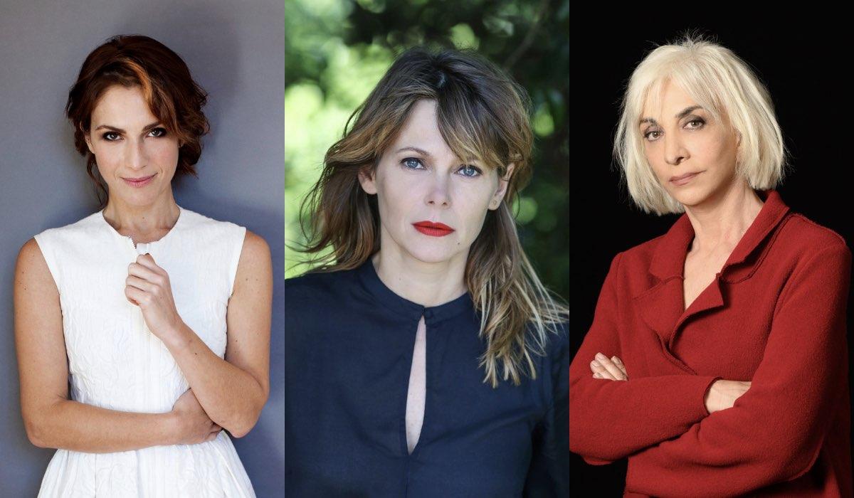 Da sinistra a destra: Isabella Ragonese, Barbora Bobulova e Anna Bonaiuto. Credits: Sky Italia.