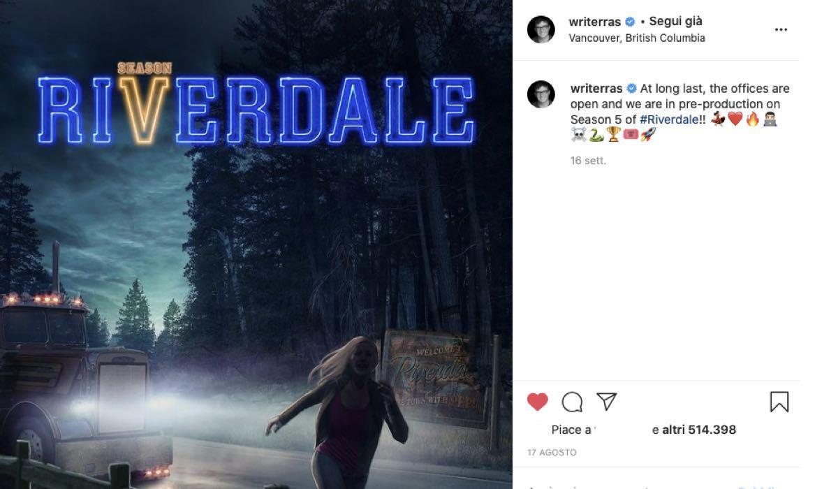 poster riverdale 5 di robert aguirre sacasa via instagram profilo writerras