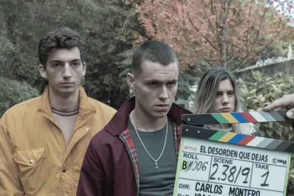 Arón Piper in una foto dietro le quinte de Il Caos Dopo Di Te. Credits: Jaime Olmedo/Netflix.