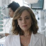 Doc - Nelle tue mani Agnese Tiberi interpretata da Sara Lazzaro, qui col camice Credits RAI