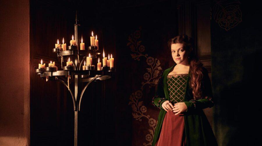 Georgie Henley nelle vesti di Margaret Tudor in The Spanish Princess. Credits: Starzplay.