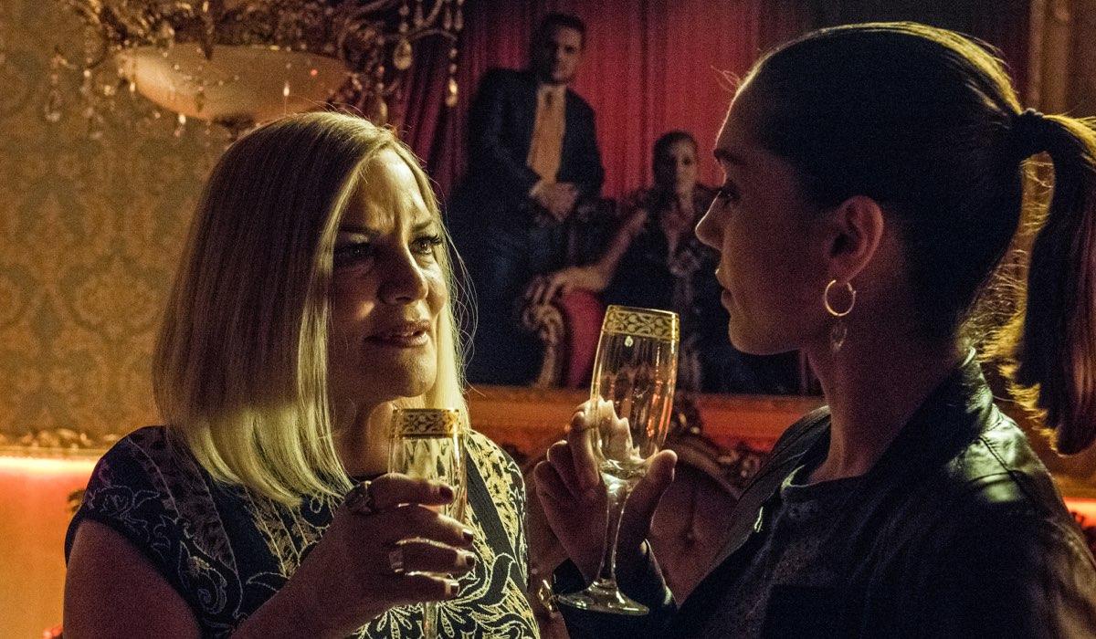 Gomorra 3, qui Cristina Donadio interpreta Annalisa Magliocca chiamata Scianel e Cristiana Dell'Anna interpreta Patrizia foto Credits SKY