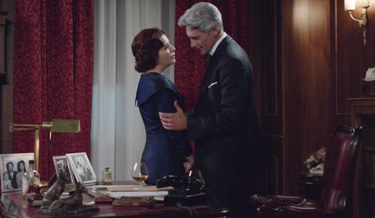Il Paradiso delle Signore 4 Adelaide e Umberto interpretati da Vanessa Gravina e Roberto Farnesi nella puntata 160 Credits RAI
