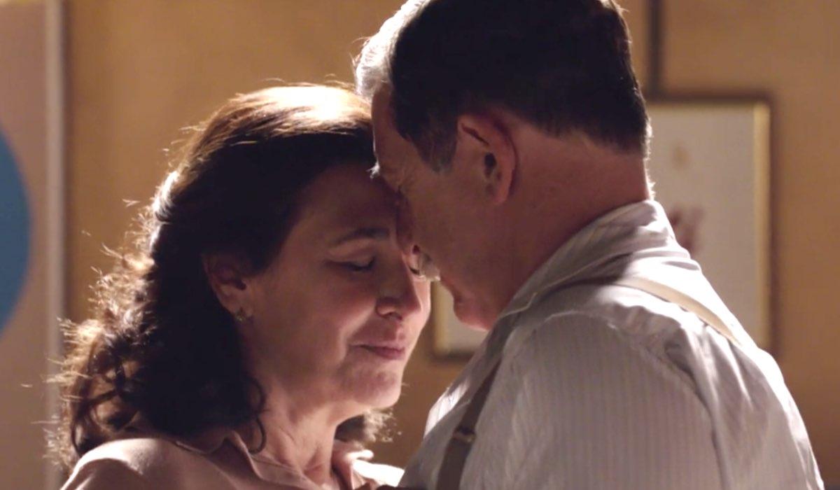 Il Paradiso delle Signore 4 Agnese e Armando interpretati da Antonella Attili e Pietro Genuardi nella puntata 160 Credits RAI