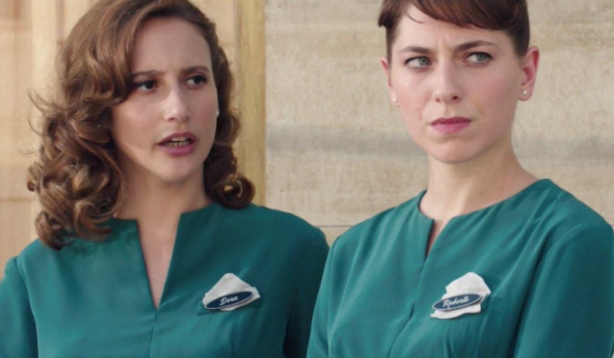 Il Paradiso delle Signore 4 Dora e Roberta interpretate da Mariavittoria Cozzella e Federica De Benedittis, qui nella puntata 156 Credits RAI
