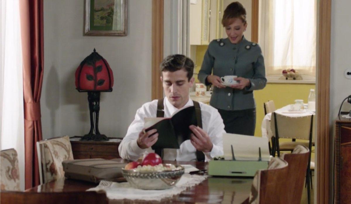 Il Paradiso delle Signore 4 Federico e Silvia interpretati da Alessandro Fella e Marta Richeldi nella puntata 160 Credits RAI
